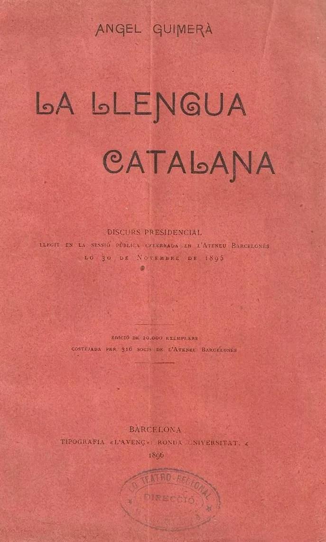 llengua catalana àngel guimerà discurs ateneu barcelonès català