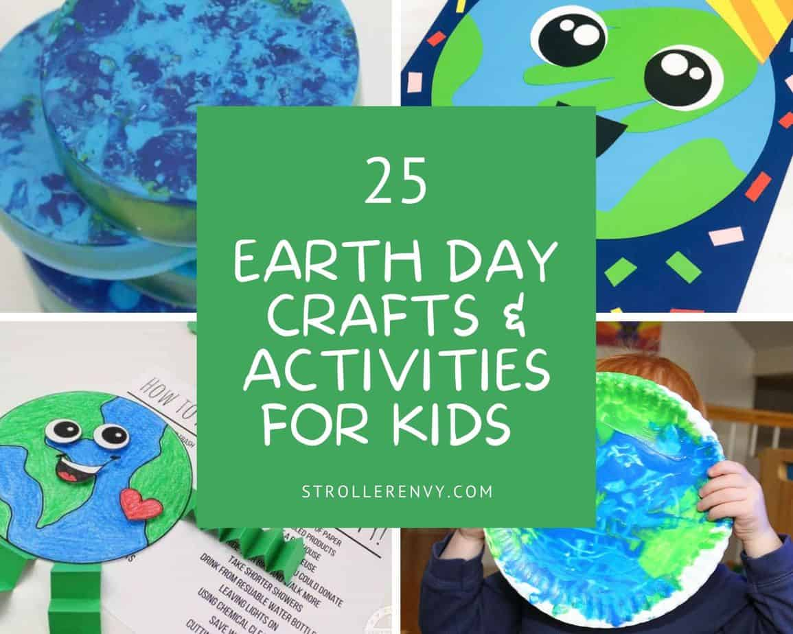 Easter egg paper craft for kids to make. 25 Easy Earth Day Crafts And Activities For Kids