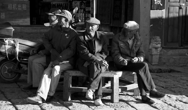 Lijiang alte Männer