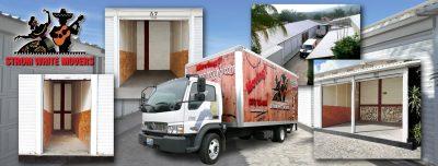 Strom White storage units collage