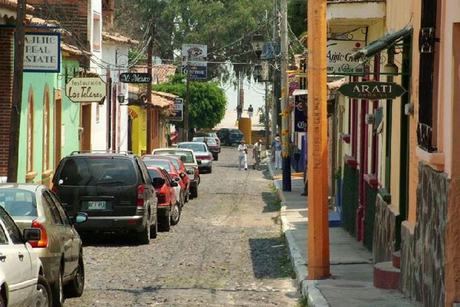 Street in Ajijic, Mexico