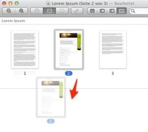 Herauslösen einer Seite als neues, geöffnetes PDF