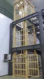 Lift barang dari samping, menggunakan struktur WF sendiri.