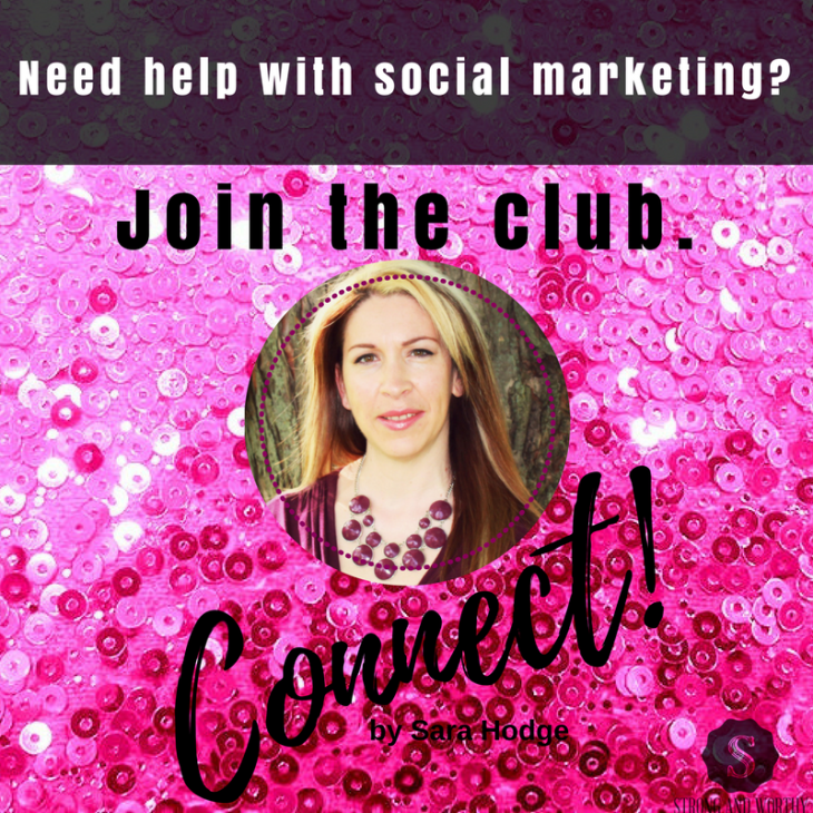 Join the Connect! Facebook Group ad square on Strongandworthy.com