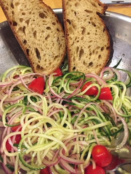 weekend spiralizer asian salad