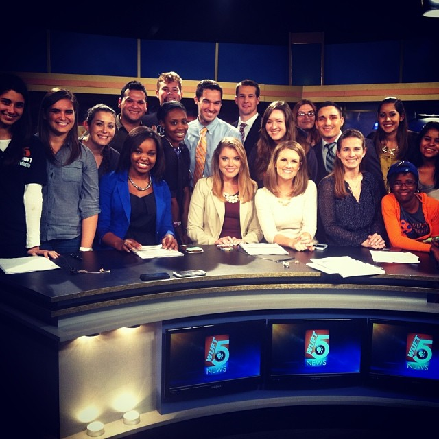 First at Five Production and News crews