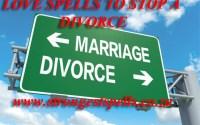 Love spells to stop a divorce