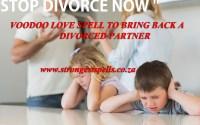 Voodoo love spell to bring back a divorced partner