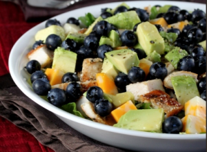chicken-avocado-blueberry-salad