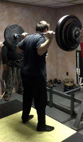 Heavy squat