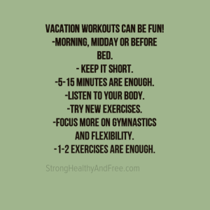 Key points on how to workout