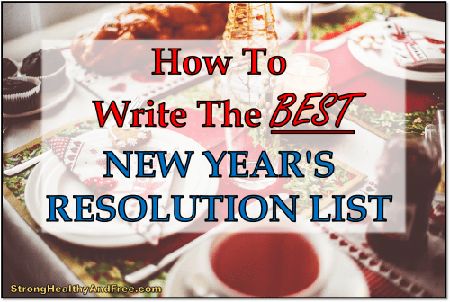 In this guide, I will show you how to write a new year's resolution list and actually stick with it!