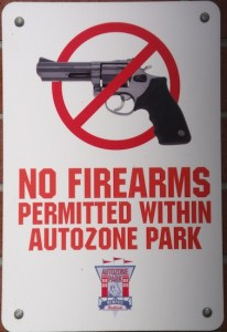 No firearms permitted