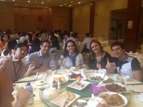 (11/11) Almoço oferecido pela CUHK. Restaurante tradicional chinês.
