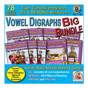 603BD - Vowel Digraphs BIG BUNDLE - SQ COVER 500h 60