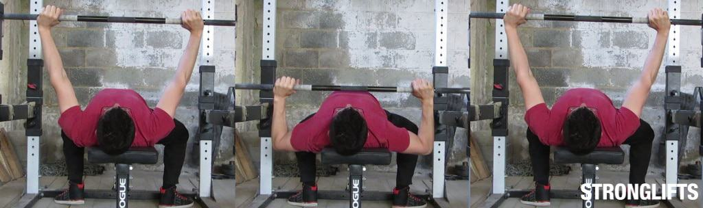Bench Press Form from back