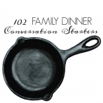 <h5>102 Family Dinner Conversation Starters</h5>
