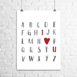 <h5>Alphabet I Love You Art Print</h5><p>Alphabet I Love You Art Print</p>