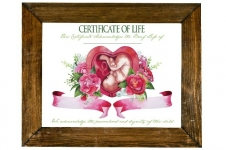 <h5>Certificate of Life for Aborted Baby</h5>
