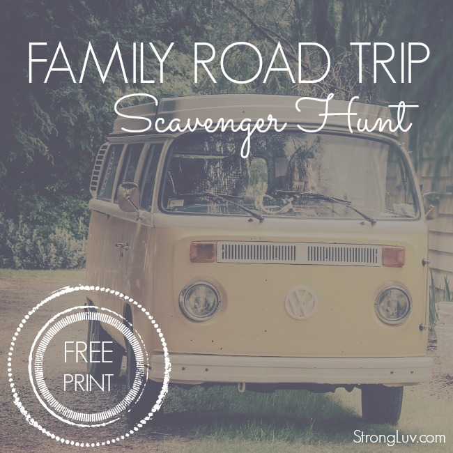 road trip scavenger hunt for kids