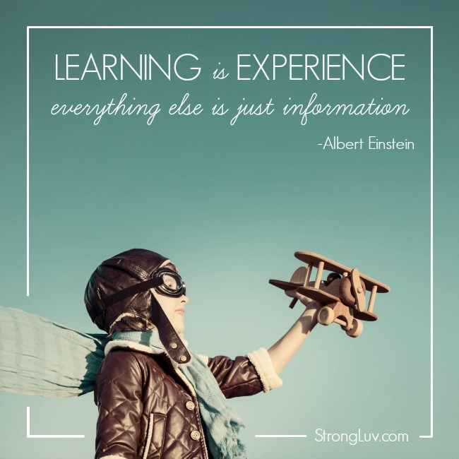 learning is experience quote