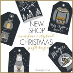 NEW StrongLuv Shop + FREE Hipster Christmas Gift Tags