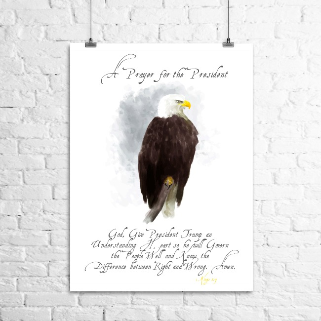 Prayer for President Trump printable