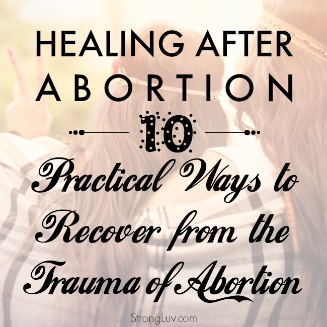 how feel better after abortion