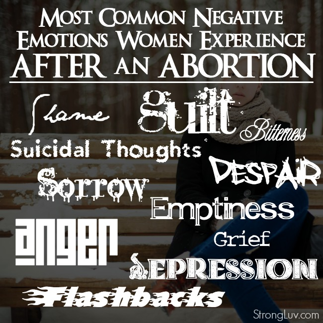 feel bad after abortion