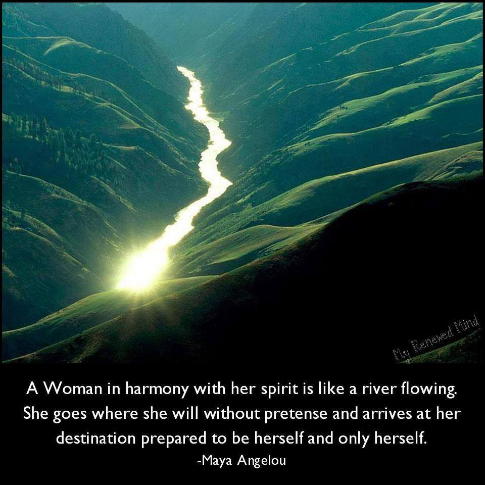 a woman in harmony
