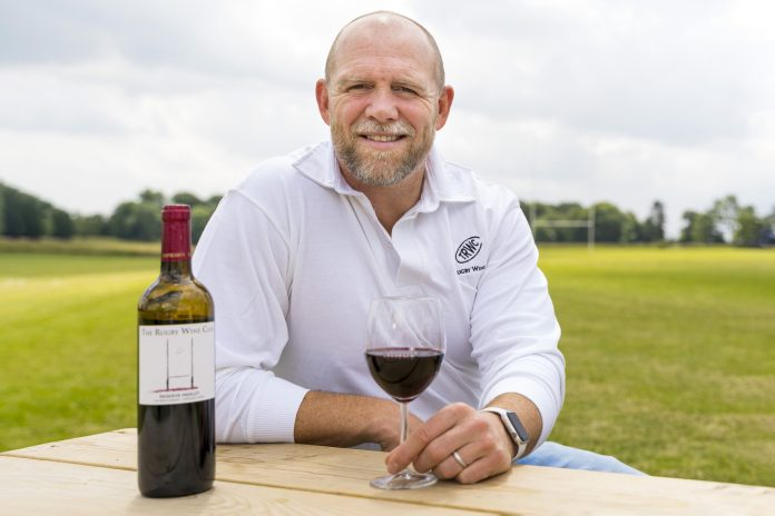 Chin-chin: Mike Tindall and The Rugby Wine Club raise a glass for grassroots rugby