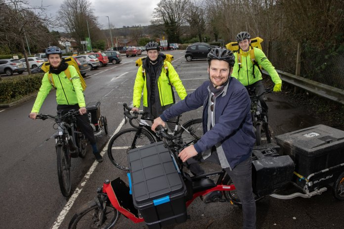 Pedal power: home delivery companies join forces