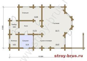 План - 2 этаж (66м2)