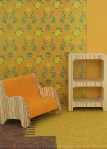 Желтые обои (62 фото): идеи стен в интерьере, какие цвета ...