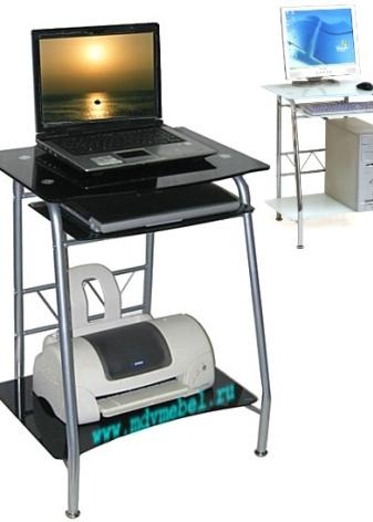 Столы для ноутбука и принтера (34 фото): малогабаритные и ...