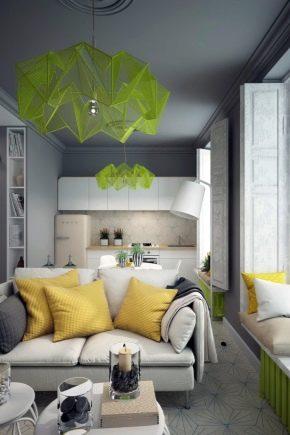 Кухня-гостиная 17 кв. м (50 фото): дизайн и планировка ...