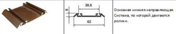 ریل پایین از فلز ساخته شده است