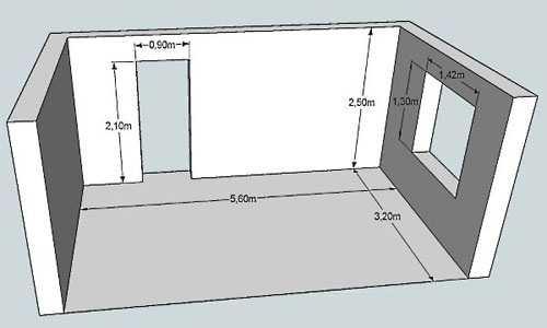 Le dimensioni più convenienti sono applicate al piano.