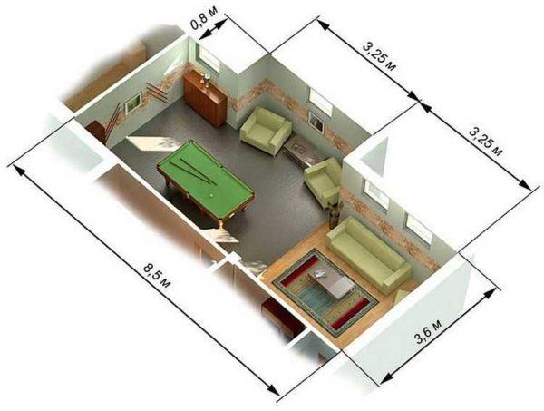 Area della stanza del complesso OPR
