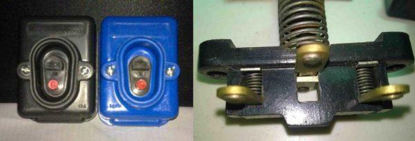 """PNVS düğmesinin görünümü ve """"Başlat"""" düğmesini serbest bırakıldıktan sonra kontakların durumu """""""