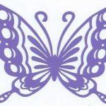 Pakattu paperin perhosten leikkaamiseen