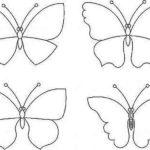 Koriste-perhoset voidaan vetää itsessään, löydät kuvan missä tahansa kirjassa