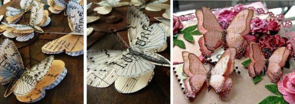 Esimerkkejä monikerroksisista paperin perhosista