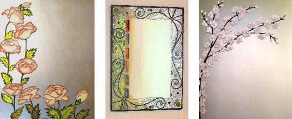 Innredning av speilet uten ramme