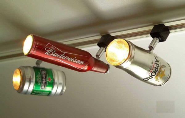 맥주 은행과 병은 plafones로 사용할 수 있다는 것을 결코 생각하지 않았습니다.
