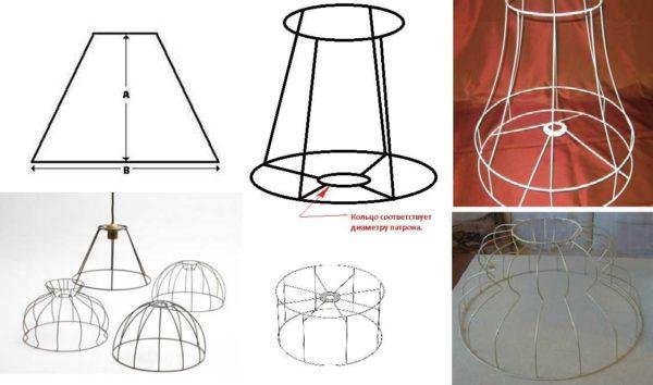 그들 자신의 와이어로 만들 수있는 램프 쉐이드의 형태