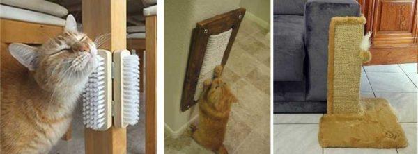 As escovas são uma coisa muito confortável para arranhar, é observada quando o proprietário não está próximo. Kogtetochki permite que você proteja móveis de garras de gato - é mais barato do que comprar um sofá anti-vândalo