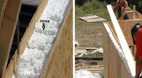 For at installere pladerne af overlappende i pumperne på vægpaneler på skummet, og skruerne er installerede brædder. De skaber strapping til montering overlapning.