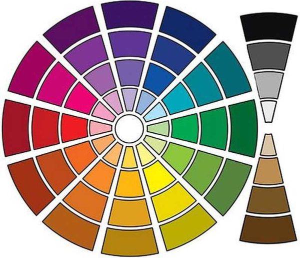 هر یک از رنگ ها می توانند تیره یا روشن باشند