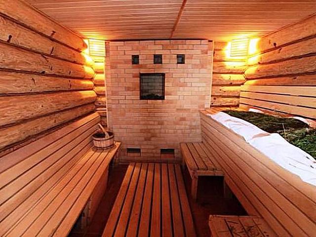 Brick bath furnaces lumikha ng isang partikular na kanais-nais na kapaligiran sa steam room